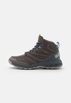 Jack Wolfskin - WOODLAND TEXAPORE MID - Hiking shoes - grey/light blue