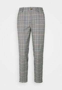 TOM TAILOR DENIM - CHECKED CIGARETTE PANTS - Stoffhose - small navy check