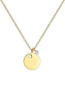 Elli DIAMONDS - PLATE BASIC - Halsband - gold
