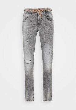 TOM TAILOR DENIM - PIERS DESTROYED - Jeans Slim Fit - destroyed bleached black denim