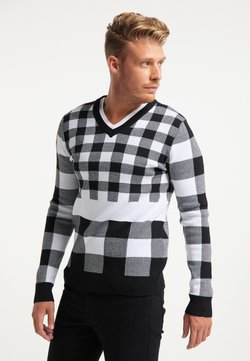 HOMEBASE - Stickad tröja - wollweiss schwarz