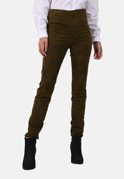 Oakwood - CASSIOPEE - Pantalon en cuir - khaki