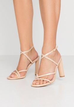 BEBO - PETAL - High heeled sandals - nude
