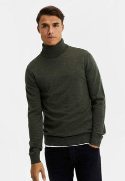 WE Fashion - Strickpullover - moss green