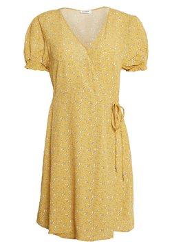 Cotton On - AMY WRAP MINI DRESS - Kjole - ochre