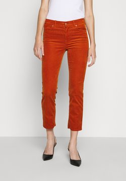 7 for all mankind - THE STRAIGHT CROP - Stoffhose - orange