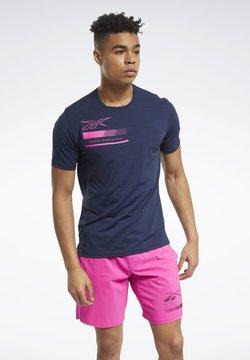 Reebok - ACTIVCHILL GRAPHIC MOVE T-SHIRT - T-Shirt print - blue
