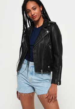 Superdry - GIACCA  - Leather jacket - black
