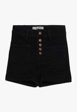 New Look 915 Generation - BEN PLACKET DENIM SHORT - Jeansshort - black