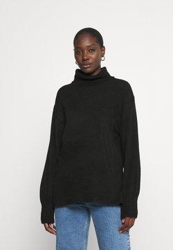 Anna Field - Long line turtle neck - Stickad tröja - black