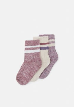 Cotton On - CREW 3 PACK - Calcetines - berry twist