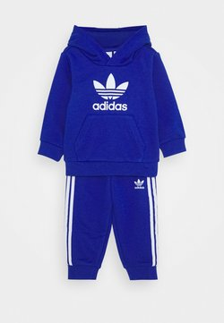 adidas Originals - TREFOIL HOODIE SET UNISEX - Survêtement - royal blue/white