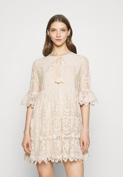 River Island - LUXE SMOCK - Cocktail dress / Party dress - offwhite