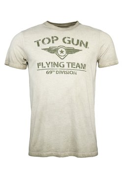 TOP GUN - MIT TOP GUN LOGO EASE - T-shirt print - olive