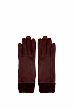 Uterqüe - Rękawiczki pięciopalcowe - bordeaux