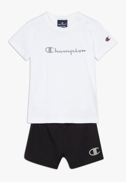 Champion - CHAMPION X ZALANDO TODDLER SUMMER SET - Korte broeken - white/black