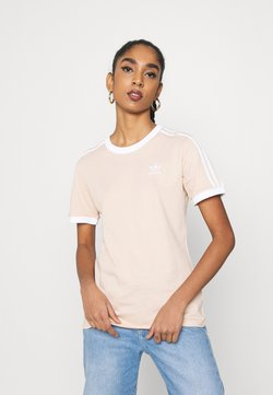 adidas Originals - STRIPES TEE - T-Shirt print - halo blush