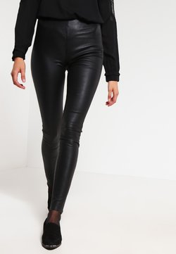 Selected Femme - SFSYLVIA - Pantalon en cuir - black
