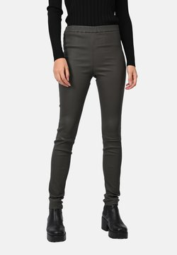 Oakwood - CASSIOPEE - Pantalon en cuir - dark green