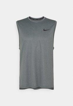 Nike Performance - DRY TANK - Linne - black/smoke grey heather