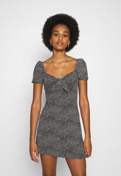 Miss Selfridge - KNOT FRONT TEA DRESS ALI - Sukienka letnia - black