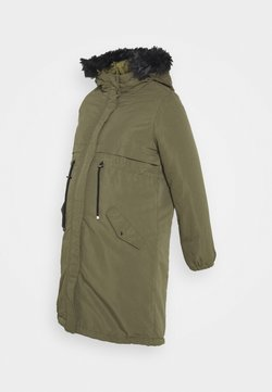 MAMALICIOUS - MLJESSA LONG - Abrigo de invierno - olive night/black