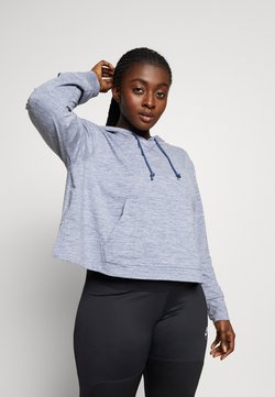 Nike Performance - YOGA CROP PLUS - Tekninen urheilupaita - diffused blue