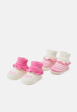 Juicy Couture - BABY STRIPE BOOTIE 2 PACK - Calcetines - wild orchid