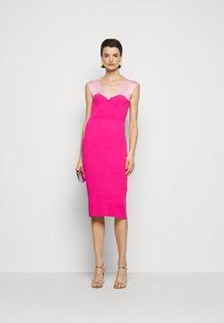 Hervé Léger - V NECK DRESS - Shift dress - dahlia