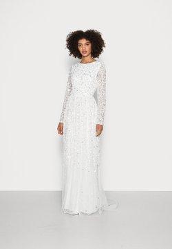 Maya Deluxe - SCOOP BACK ALL OVER EMBELLISHED BRIDAL DRESS - Iltapuku - white