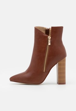 RAID Wide Fit - TOP UP KEYLA WIDE FIT  - High heeled ankle boots - tan