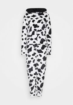 Loungeable - COW PRINT ALL IN ONE WITH EARS - Pyjama - black/white