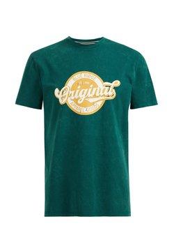 WE Fashion - T-shirt con stampa - dark green