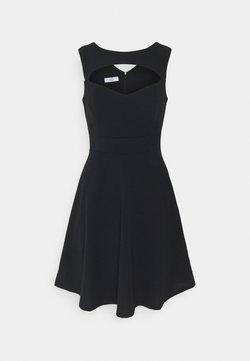 WAL G. - SHANICE CUT OUT NECK SKATER DRESS - Juhlamekko - black