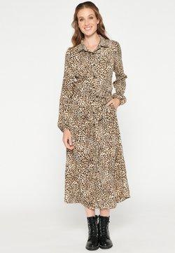 LolaLiza - WITH LEOPARD PRINT - Korte jurk - beige birch