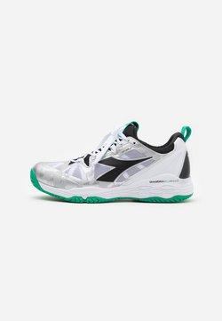 Diadora - SPEED BLUSHIELD FLY 2 + AG - Zapatillas de tenis para todas las superficies - white/holly green/black