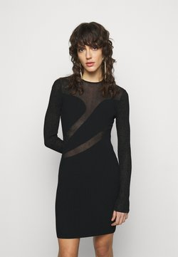Hervé Léger - SLASH DRESS - Sukienka koktajlowa - black