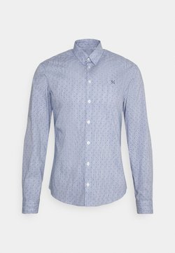 Casual Friday - ARTHUR PRINTED STRIPED SHIRT - Camicia - navy