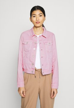 Marc O'Polo - JACKET BUTTON CLOSURE GARMENT DYED - Jeansjacke - bleached berry