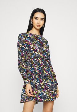 JDY - JDYLEA SHORT DRESS  - Korte jurk - black/multicolor