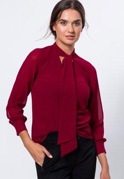 zero - MIT SCHLUPPE - Bluse - claret red