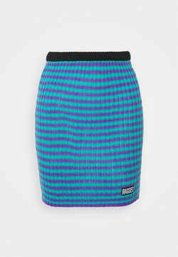 The Ragged Priest - STRIPE SKIRT - Minirock - blue/lilac