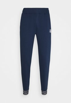 SIKSILK - MUSCLE FIT TAPE CUFF JOGGER - Jogginghose - navy