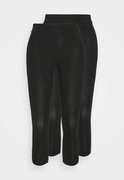 Gina Tricot - BASIC 2 PACK - Leggings - black