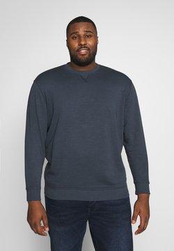 TOM TAILOR MEN PLUS - OVERDYED BASIC - Sweatshirt - sky captain blue