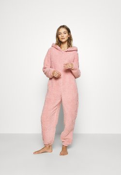 Loungeable - PINK TEDDY SHERPA ONESIE - Jumpsuit - pink