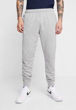 Nike Sportswear - CLUB - Pantalon de survêtement - dark grey heather/matte silver/white