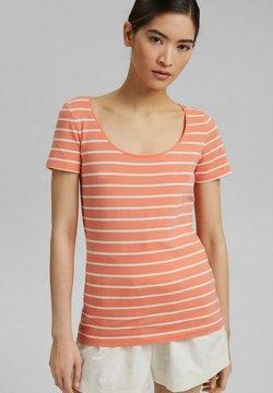 Esprit - TSHIRT DANCER - T-Shirt print - coral orange