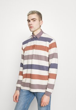 BDG Urban Outfitters - STRIPE RUGBY - Langarmshirt - stone