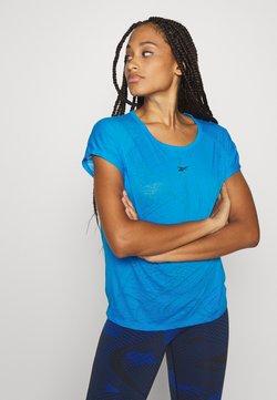 Reebok - BURNOUT TEE - T-shirt med print - blue